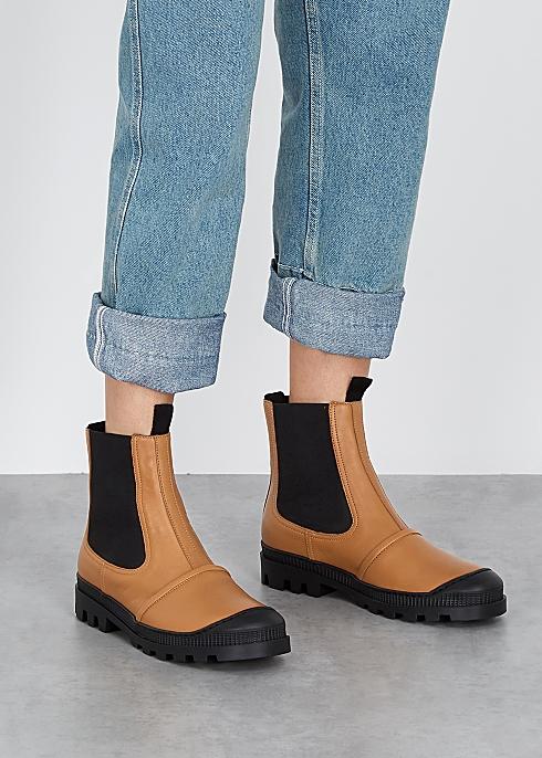 0debe23443993 Loewe Brown leather Chelsea boots - Harvey Nichols