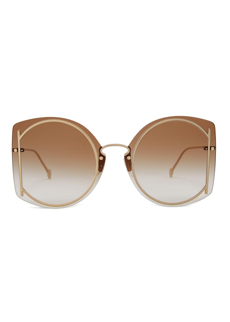 Brown oversized sunglasses - Salvatore Ferragamo