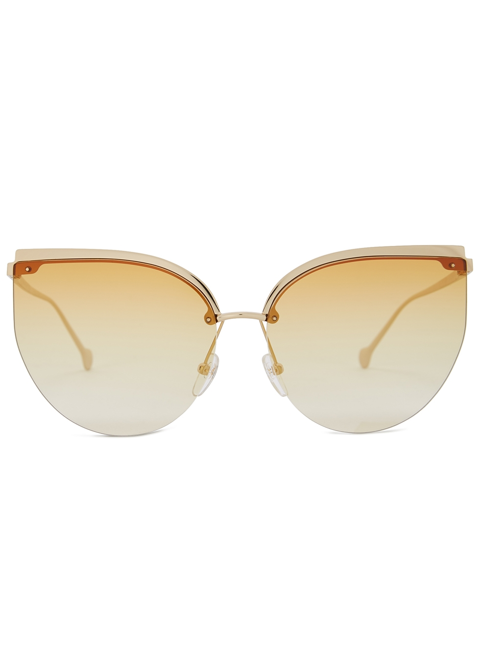 Gold-tone cat-eye sunglasses - Salvatore Ferragamo