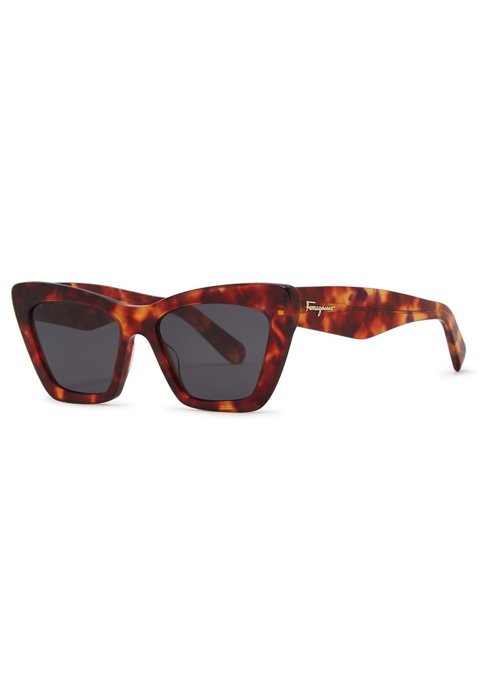 Tortoiseshell cat-eye sunglasses - Salvatore Ferragamo