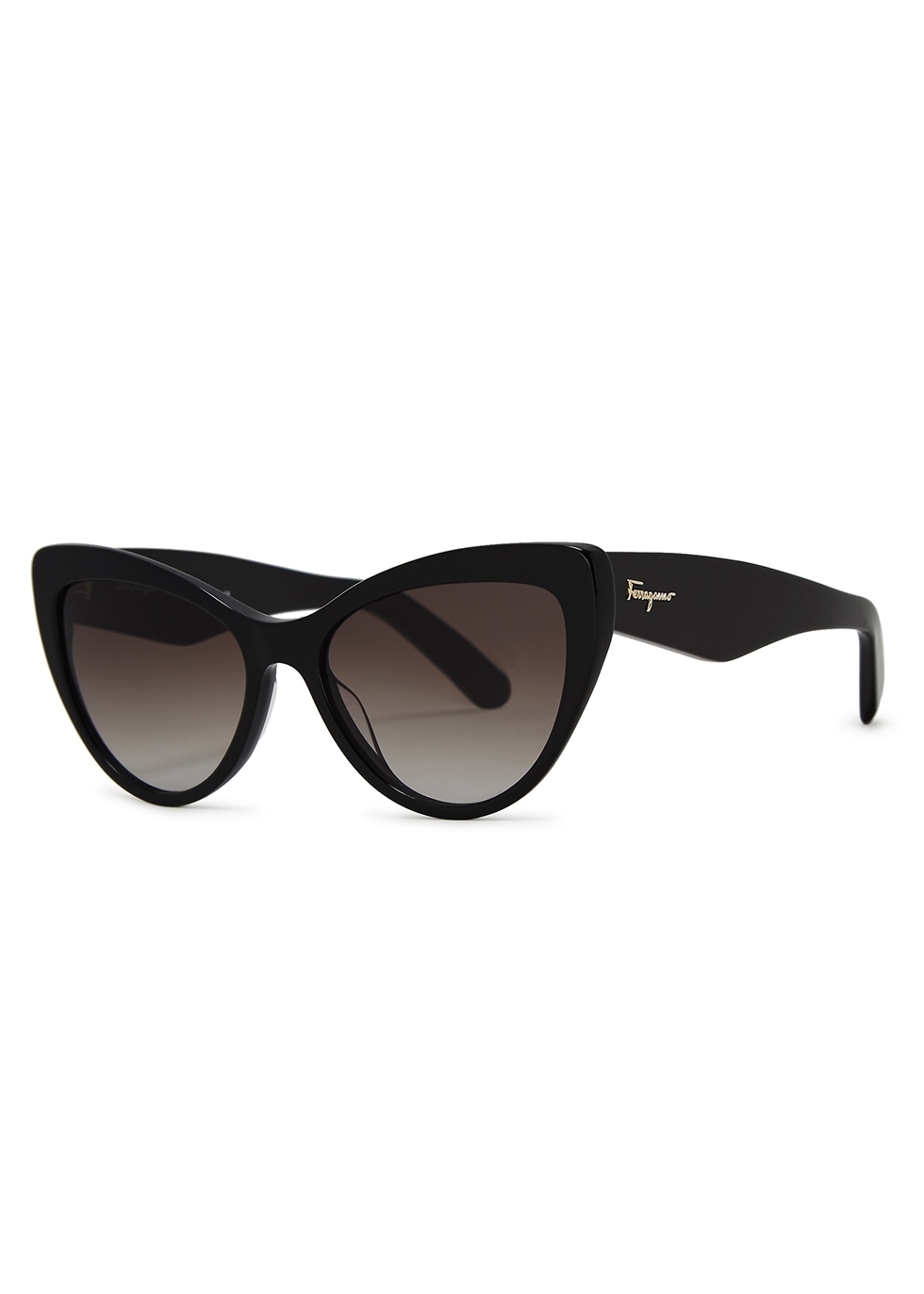 Black cat-eye sunglasses - Salvatore Ferragamo