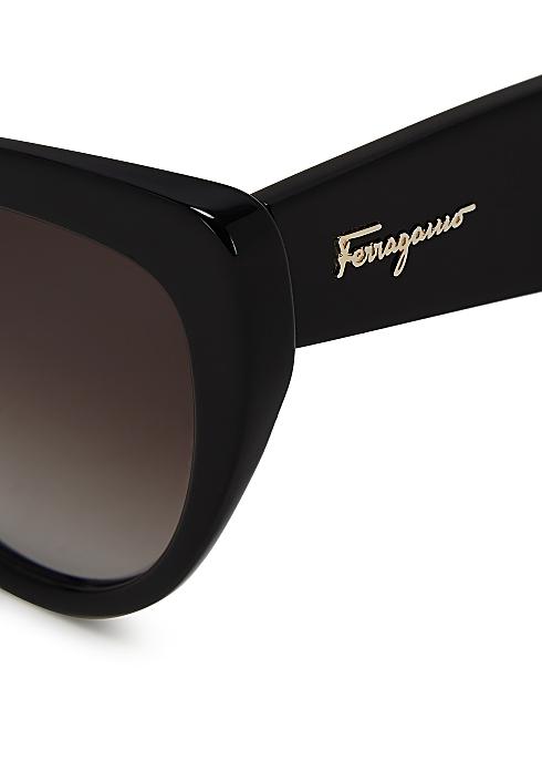 fef3068e338b Salvatore Ferragamo Black cat-eye sunglasses - Harvey Nichols
