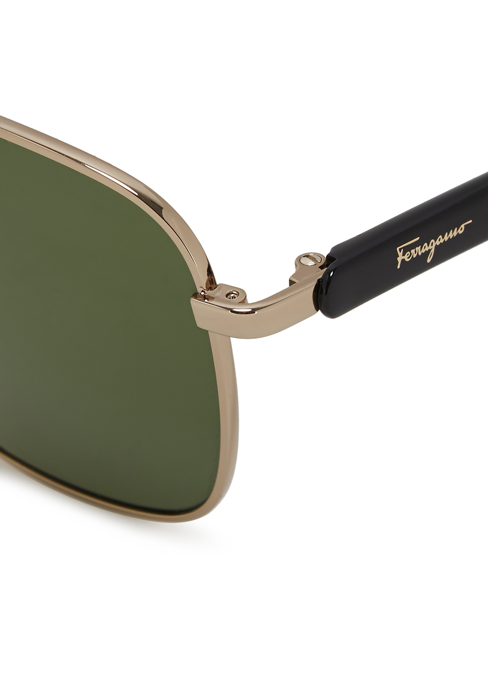 Gold-tone aviator sunglasses - Salvatore Ferragamo