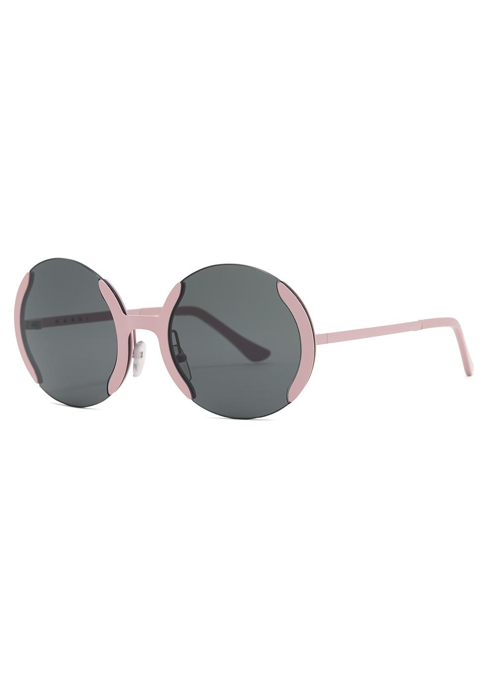 Full Moon pink round-frame sunglasses - Marni