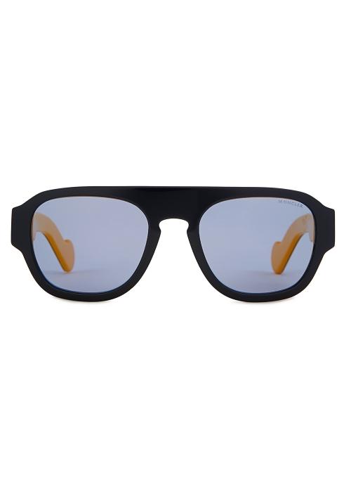 11a39b26cf Moncler Navy polarised aviator-style sunglasses - Harvey Nichols