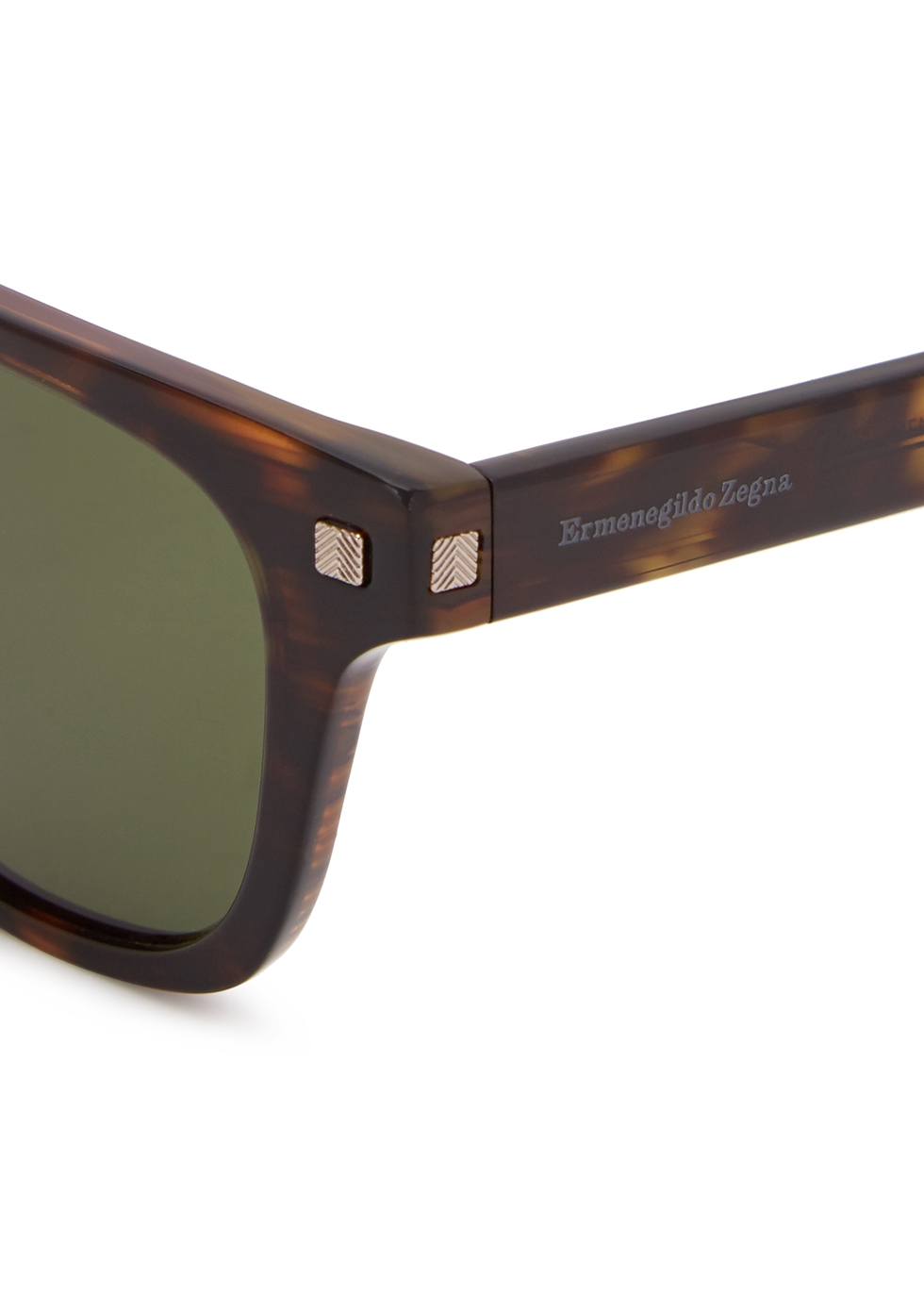 Tortoiseshell wayfarer-style sunglasses - Ermenegildo Zegna