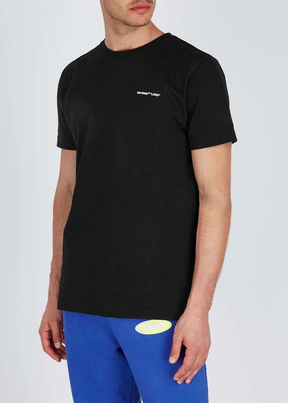 Black logo cotton T-shirt - Off-White