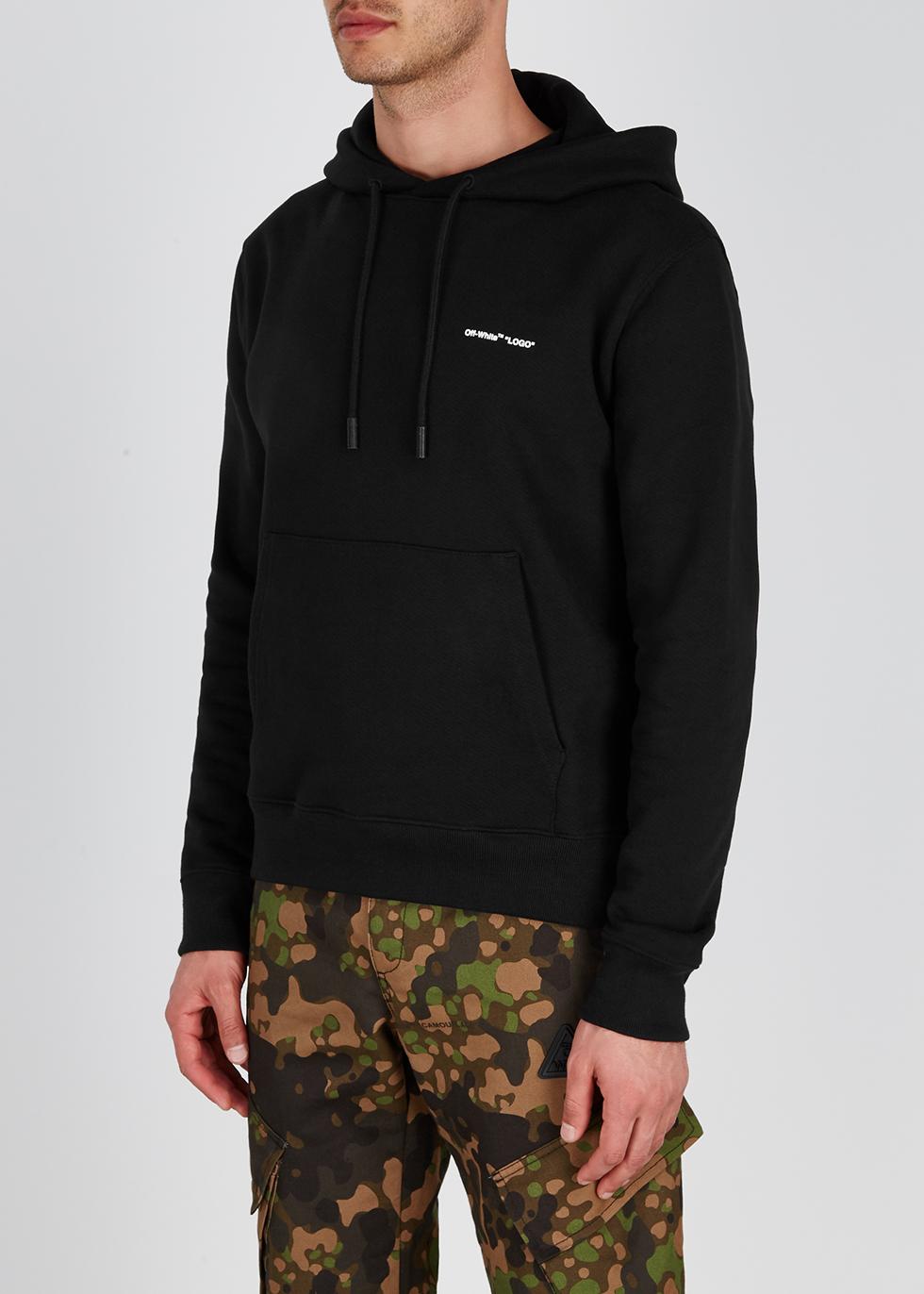 Black logo cotton sweatshirt - Off-White