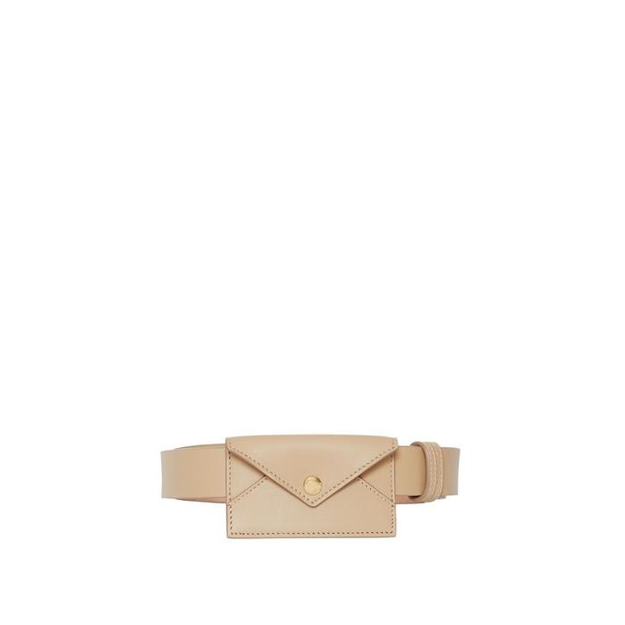 Burberry Envelope Detail Leather Belt