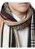 Monogram icon stripe and check print silk scarf - Burberry
