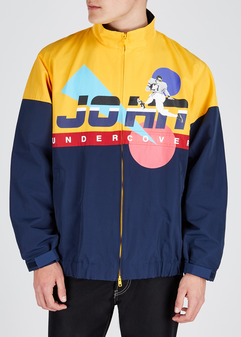 Yellow printed shell jacket - JohnUNDERCOVER