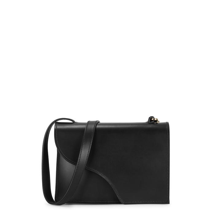 Atp Atelier Shoulder SIENA BLACK LEATHER SHOULDER BAG