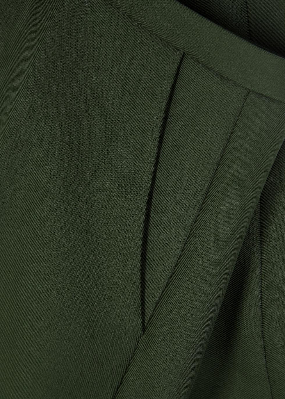 Charlize green wide-leg cotton trousers - Khaite