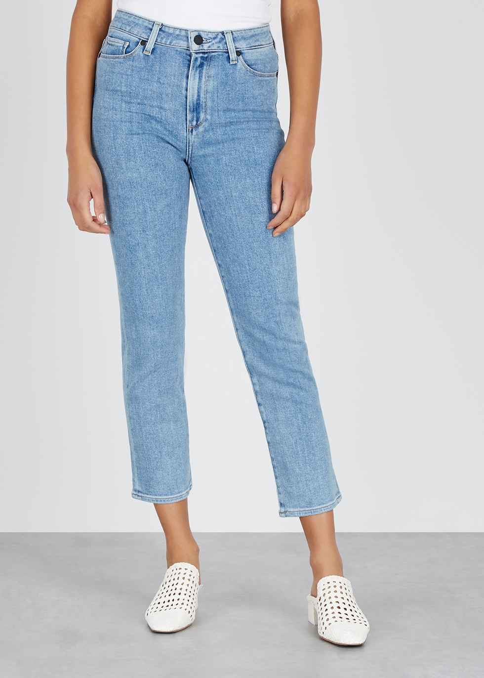 Hoxton light blue straight-leg jeans - Paige