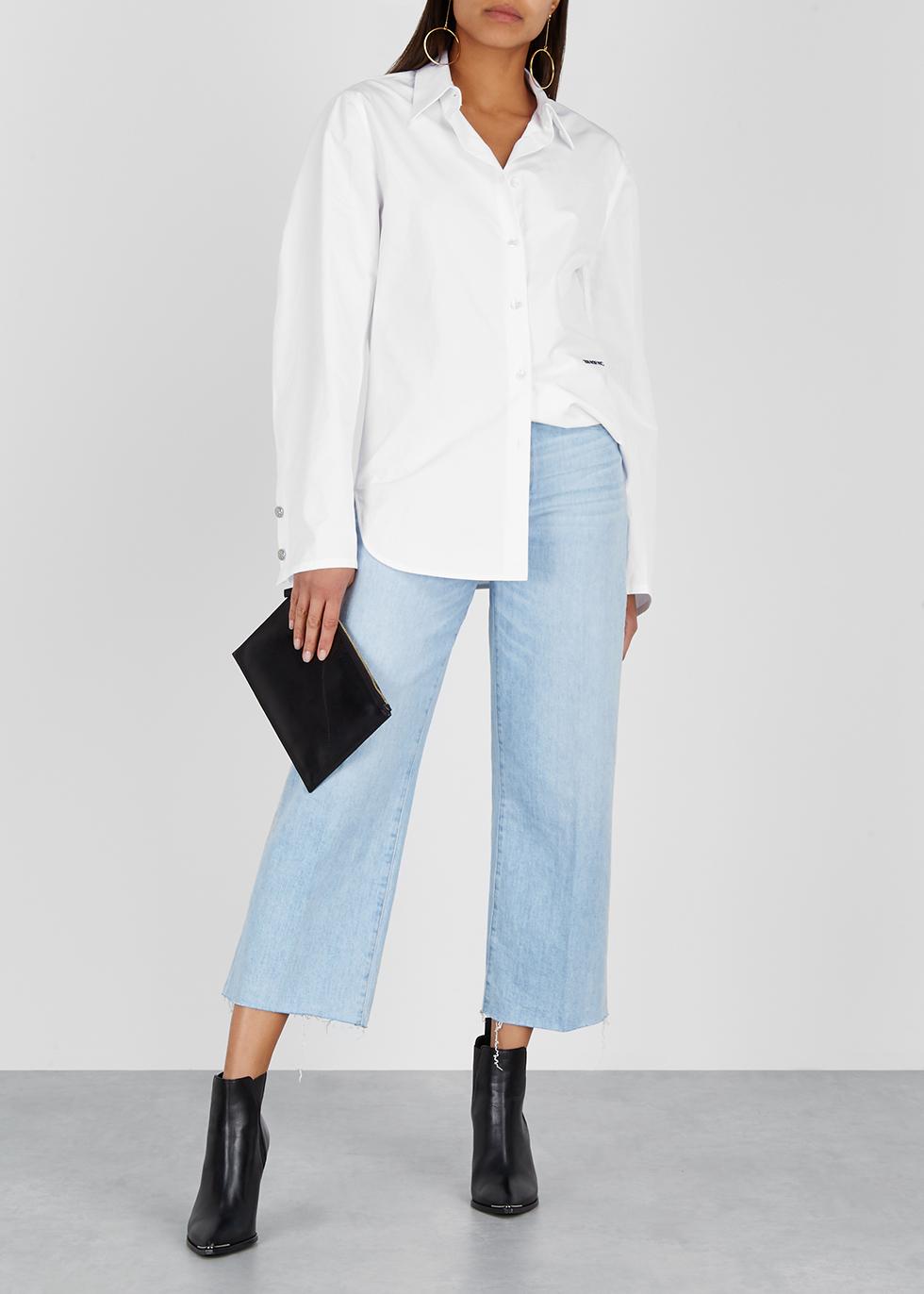 Nellie blue cropped wide-leg jeans - Paige