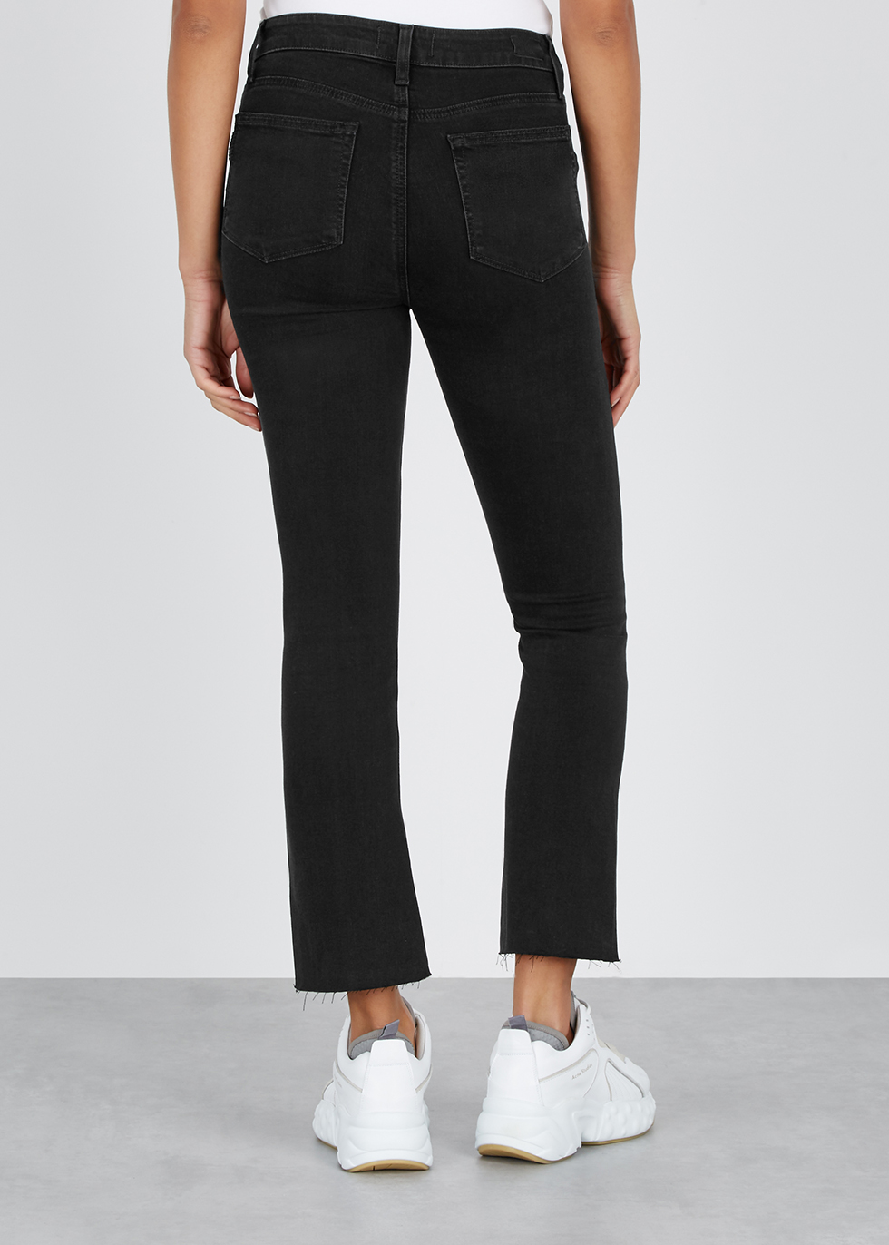 Colette black cropped flared jeans - Paige