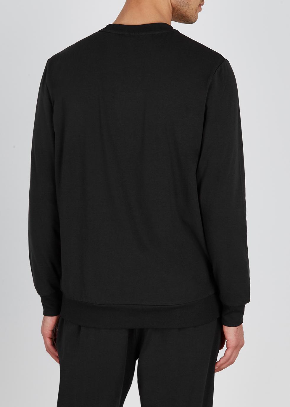 Black cotton-blend sweatshirt - Calvin Klein