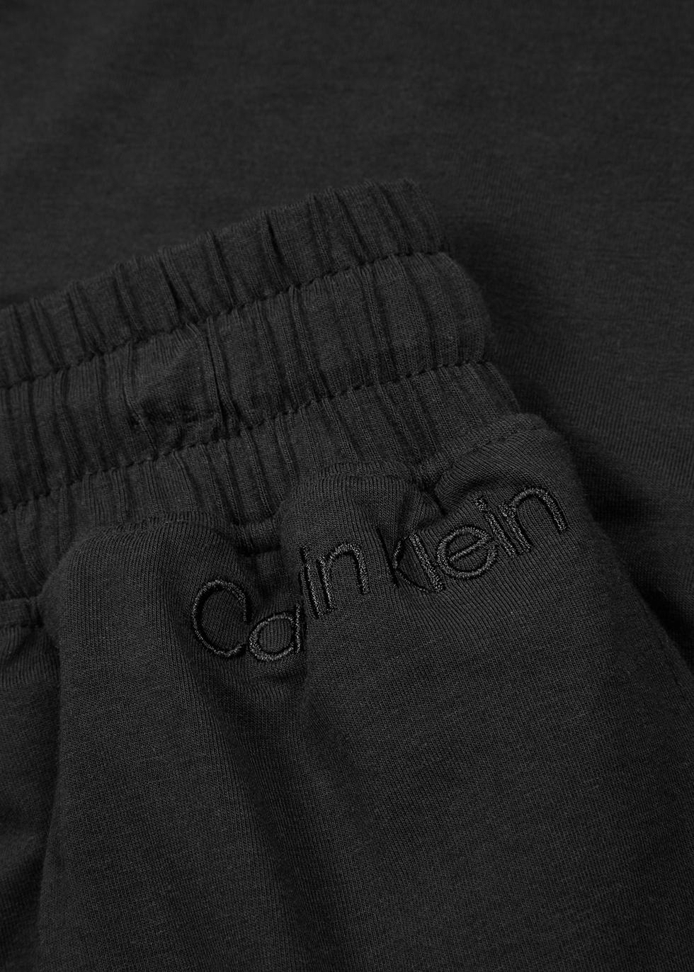 Black cotton-blend sweatpants - Calvin Klein