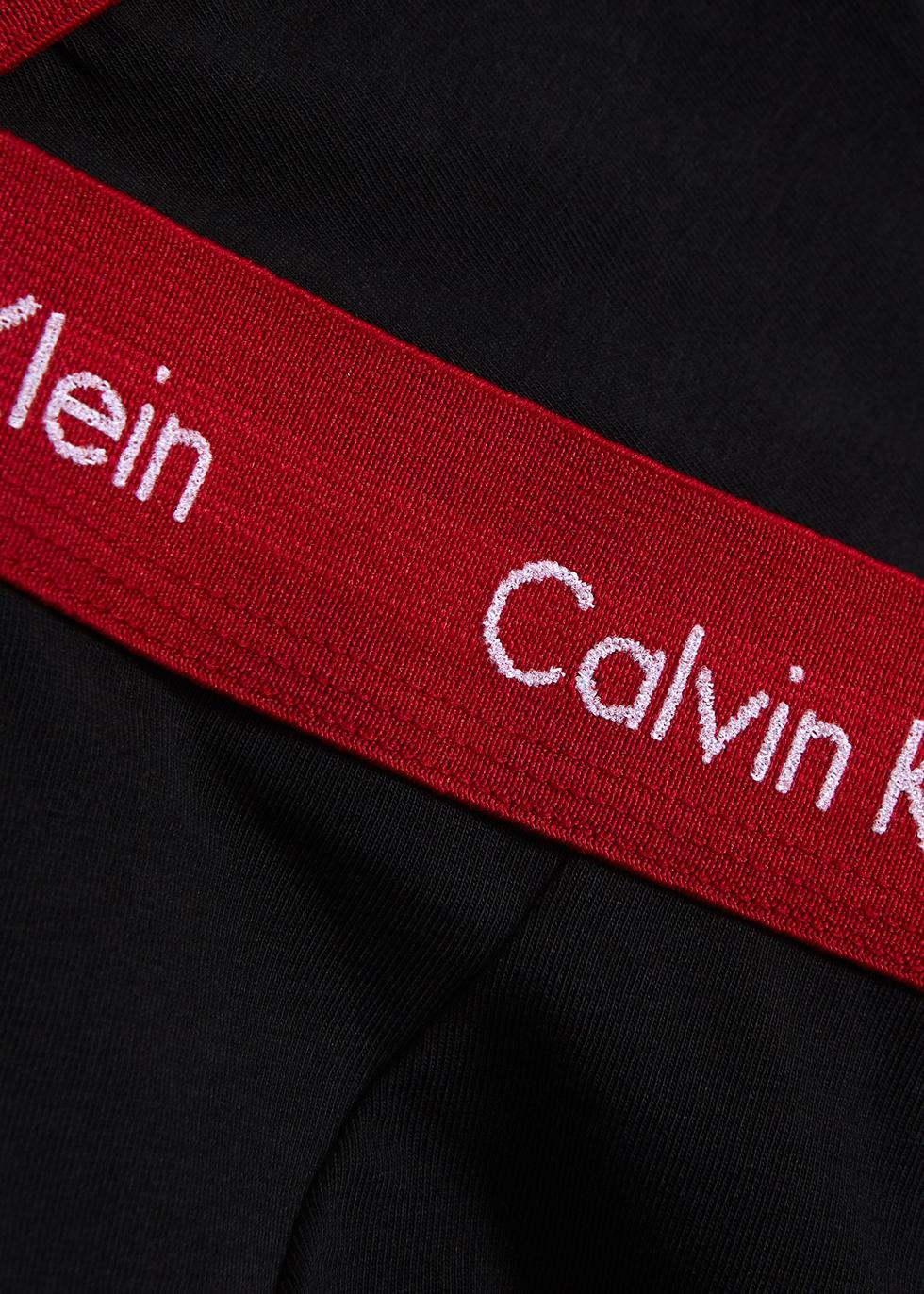 Black stretch-cotton boxer briefs - set of three - Calvin Klein