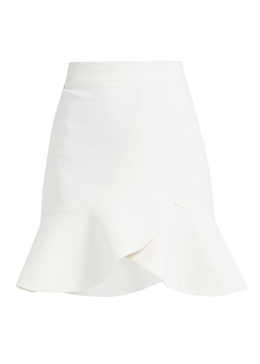 66e5406da Nakia white cotton skater mini skirt ...