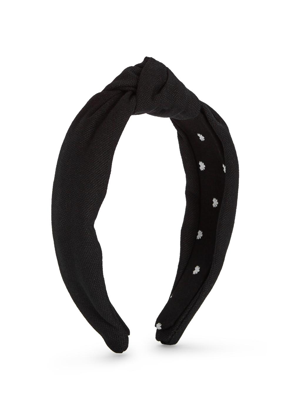 8b652ed9 Lele Sadoughi Black cotton headband - Harvey Nichols