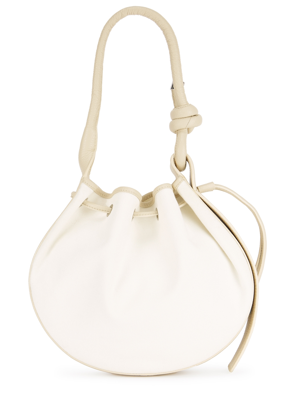 Ina canvas and leather shoulder bag - Behno