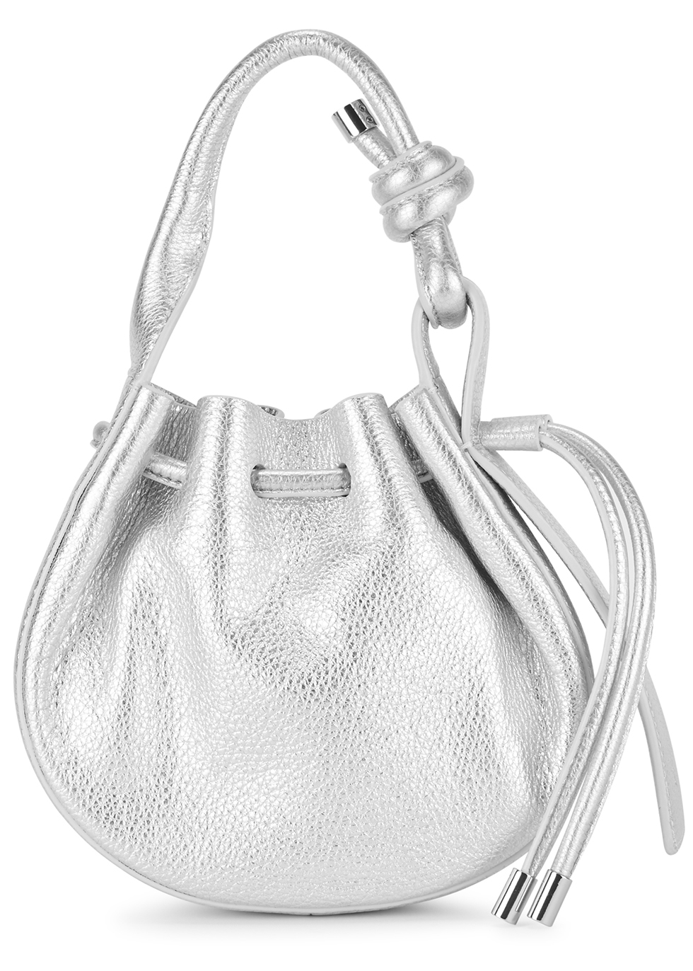 Ina mini silver leather cross-body bag - Behno