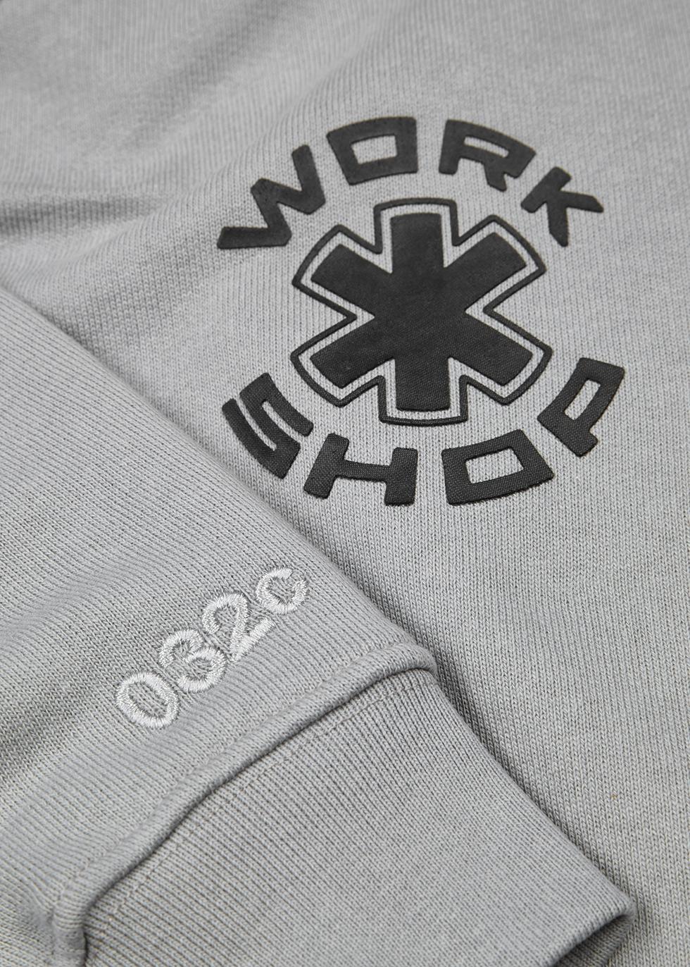 Grey printed cotton sweatshirt - 032c