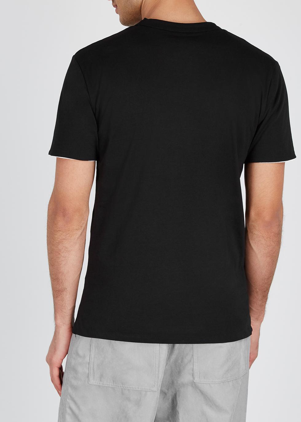 Black reversible cotton T-shirt - 032c