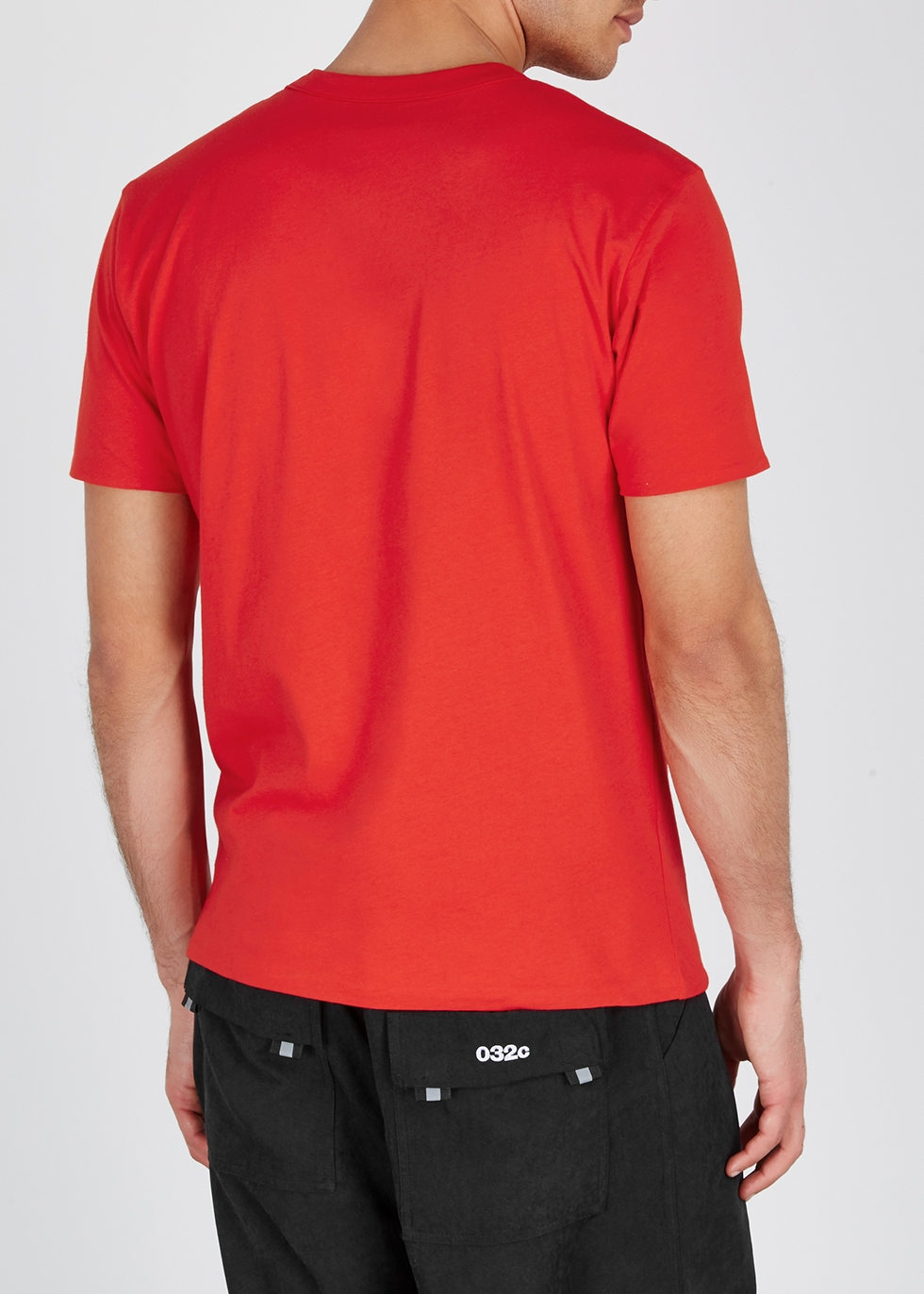 Red reversible cotton T-shirt - 032c