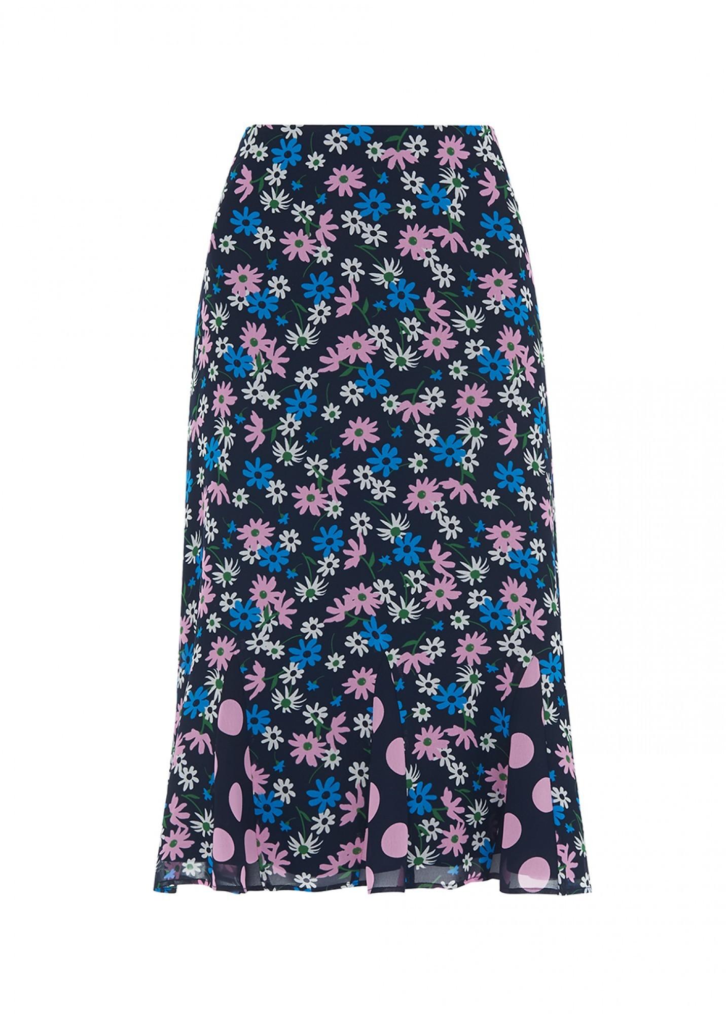 KITRI | Kitri Lois Floral Print Flared Skirt | Goxip
