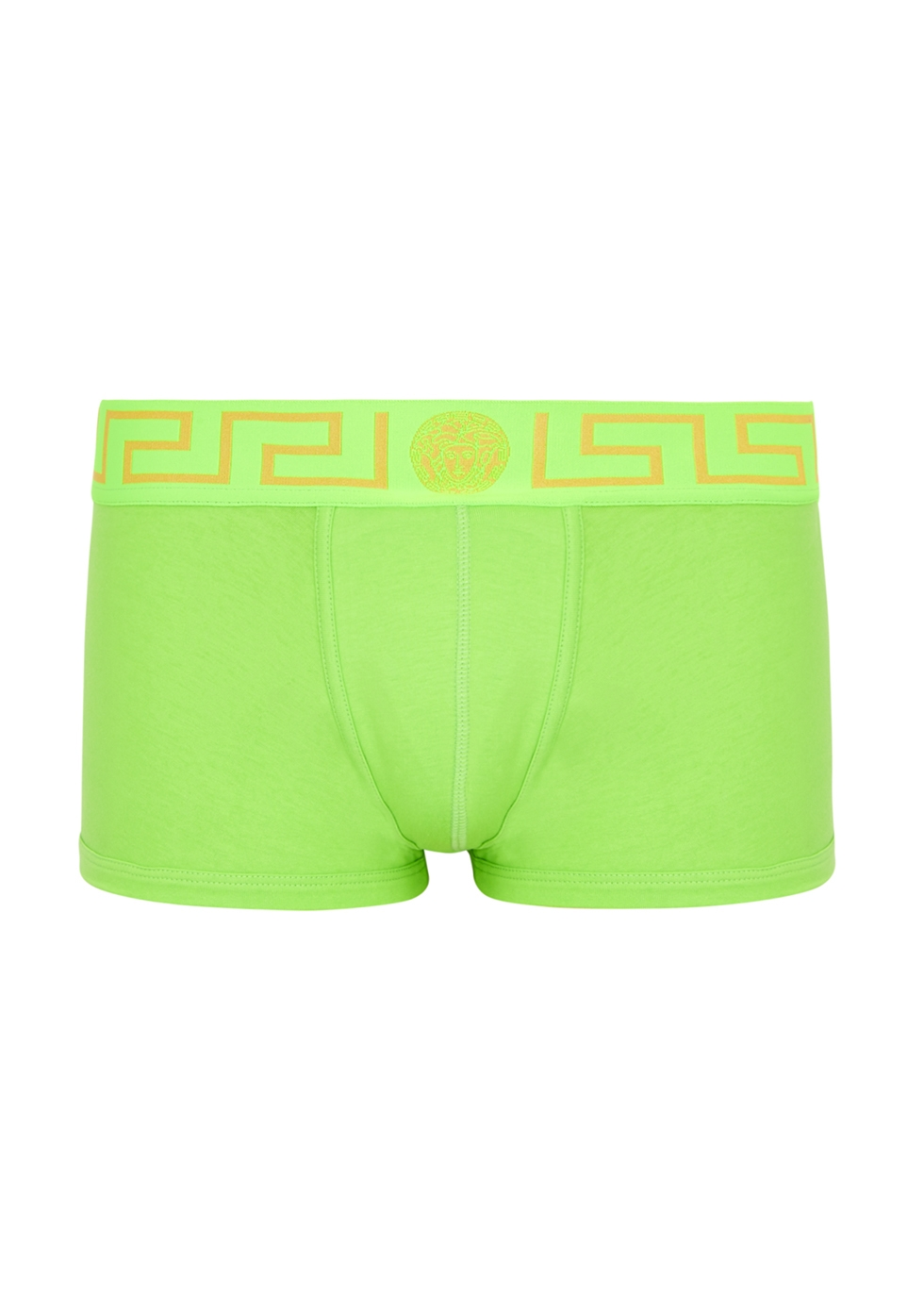 Lime stretch-cotton boxer briefs - Versace