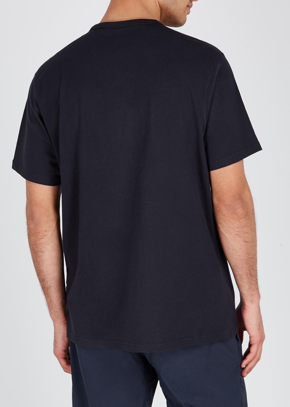 Navy logo cotton T-shirt - maharishi