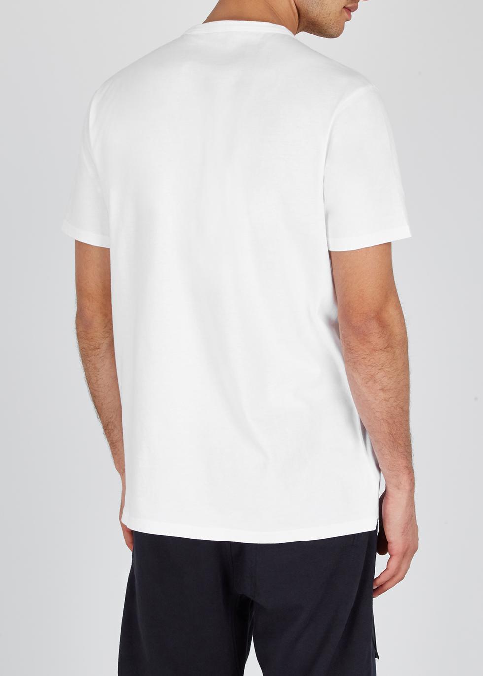 White logo cotton T-shirt - maharishi