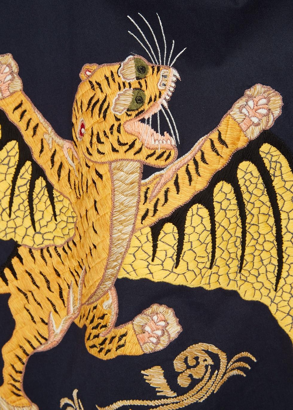 Wise Tygers navy cotton shirt - maharishi