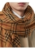 Embroidered vintage check lightweight cashmere scarf - Burberry