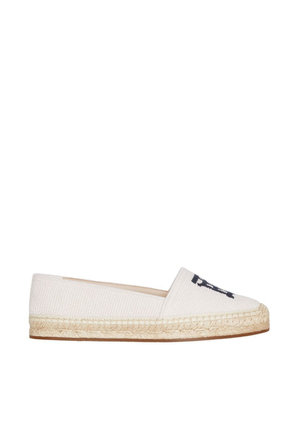 BURBERRY | Burberry Monogram Motif Cotton And Leather Espadrilles | Goxip