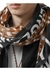 Slogan deer print cotton silk large square scarf - Burberry