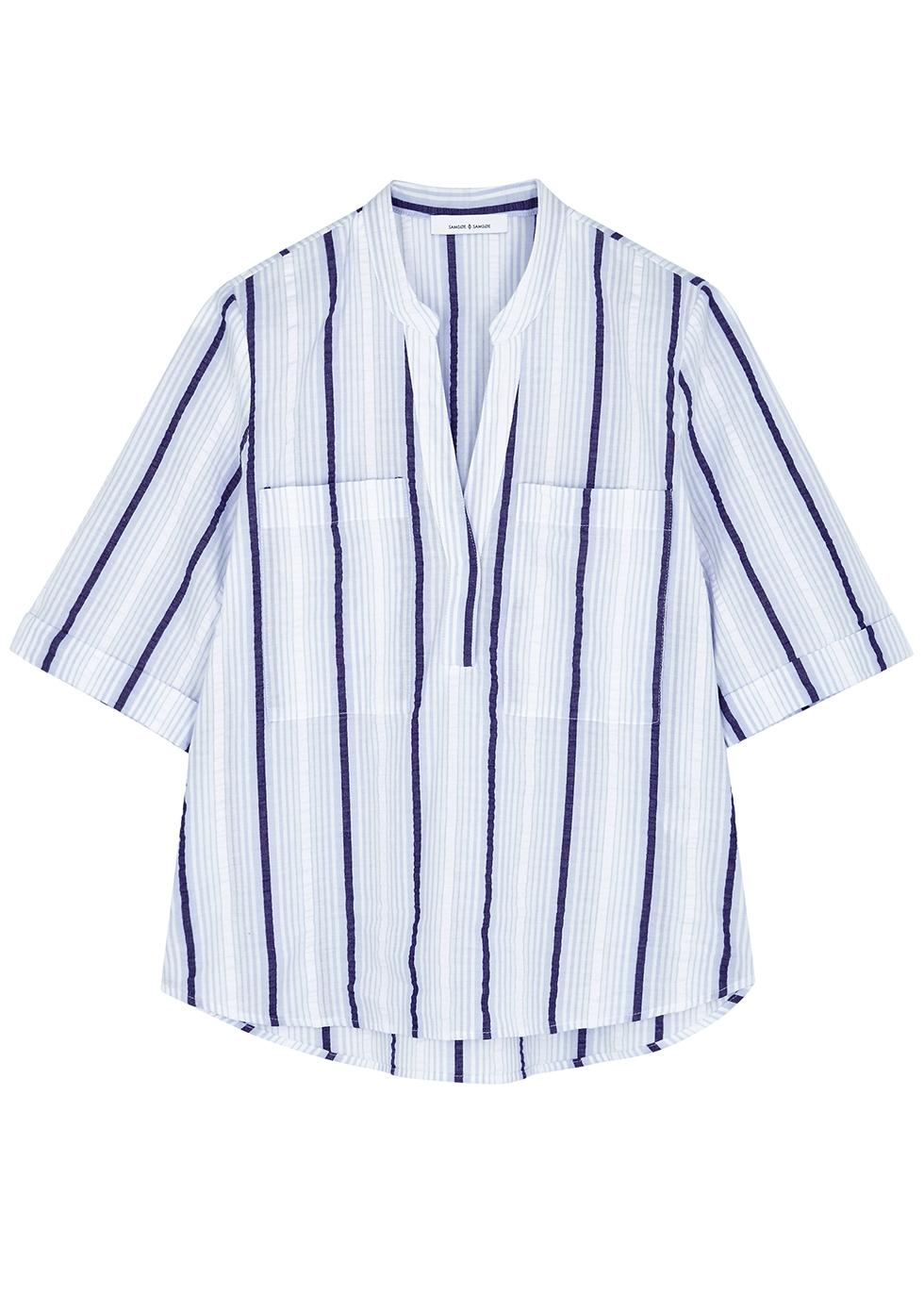 Shamil blue cotton shirt - Samsøe & Samsøe