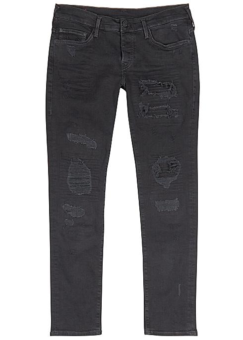 TRUE RELIGION Rocco distressed skinny jeans