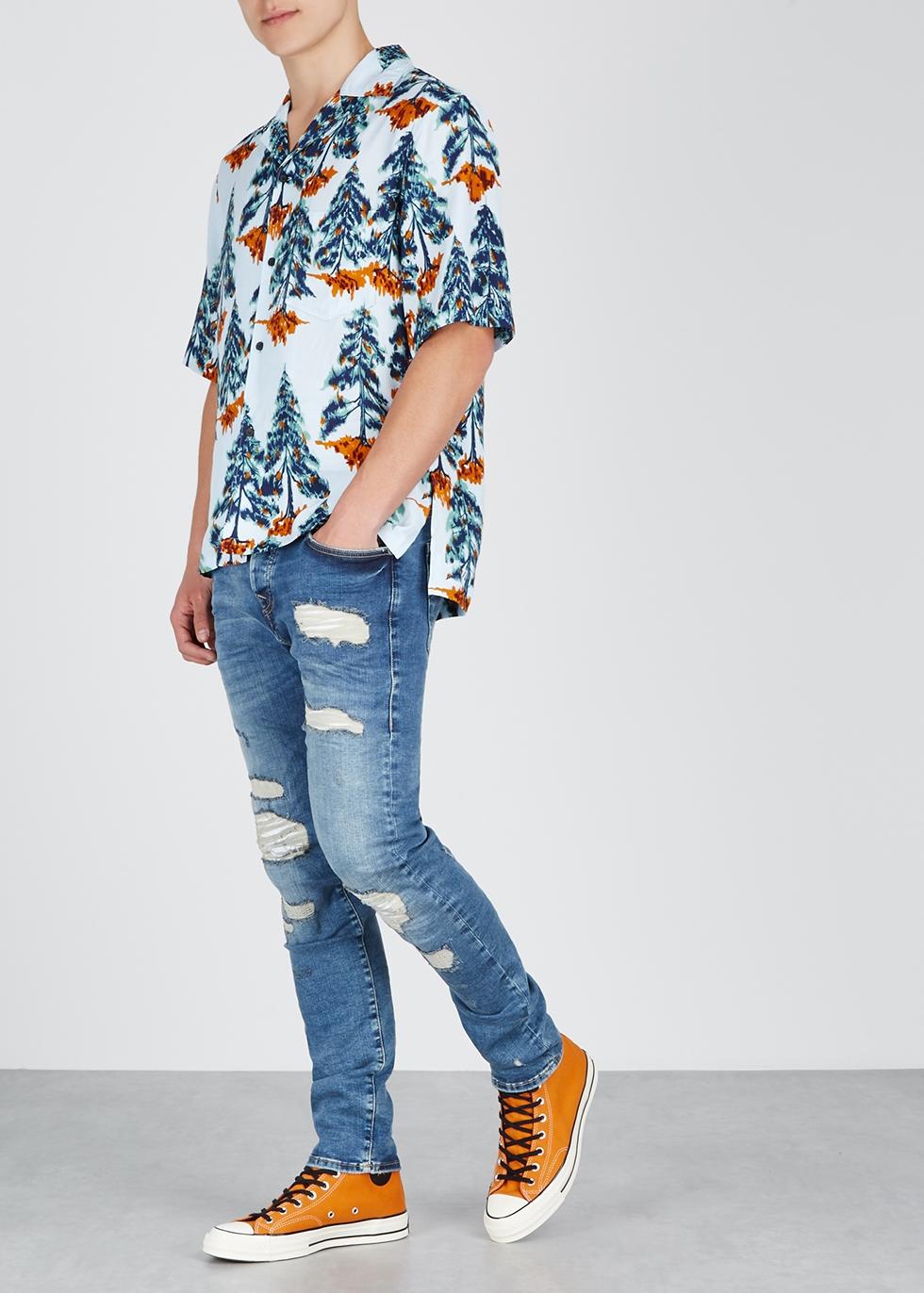 Rocco distressed skinny jeans - True Religion