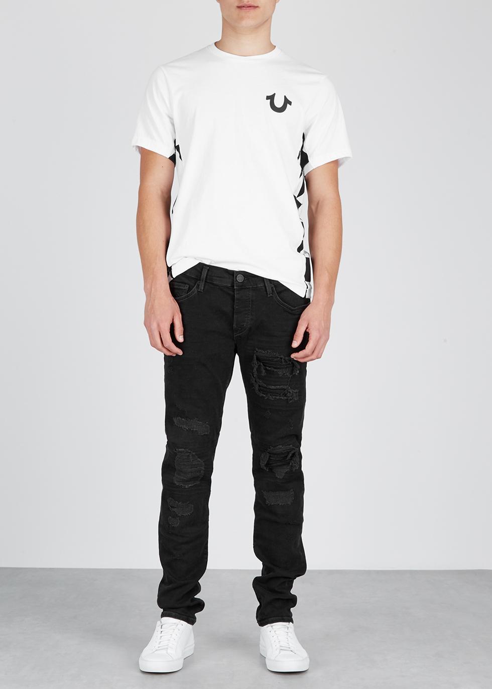 White printed cotton T-shirt - True Religion