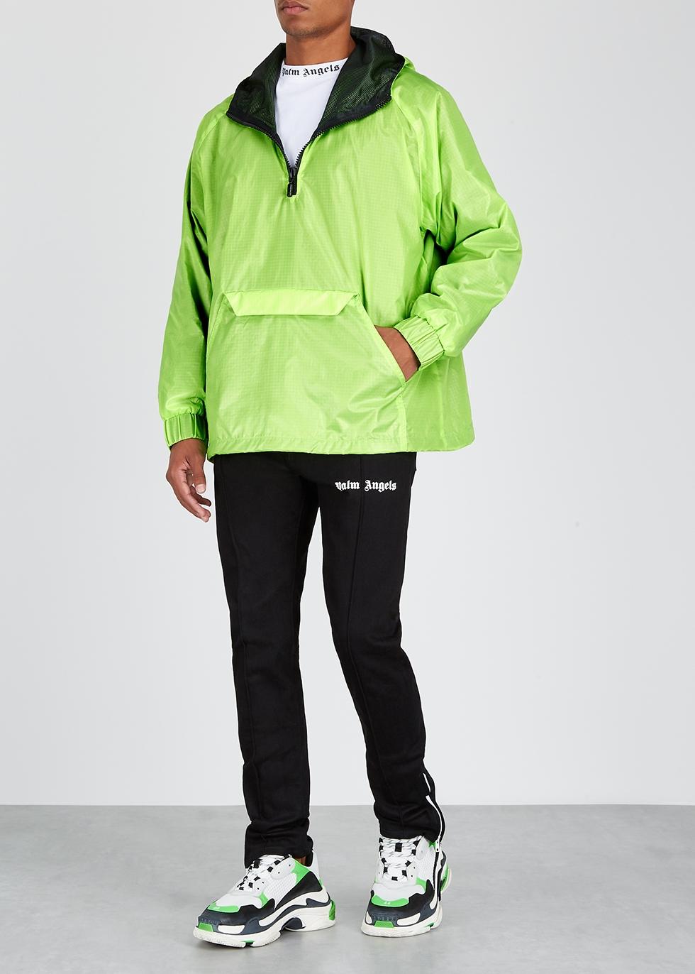 Neon green hooded shell jacket - RHUDE