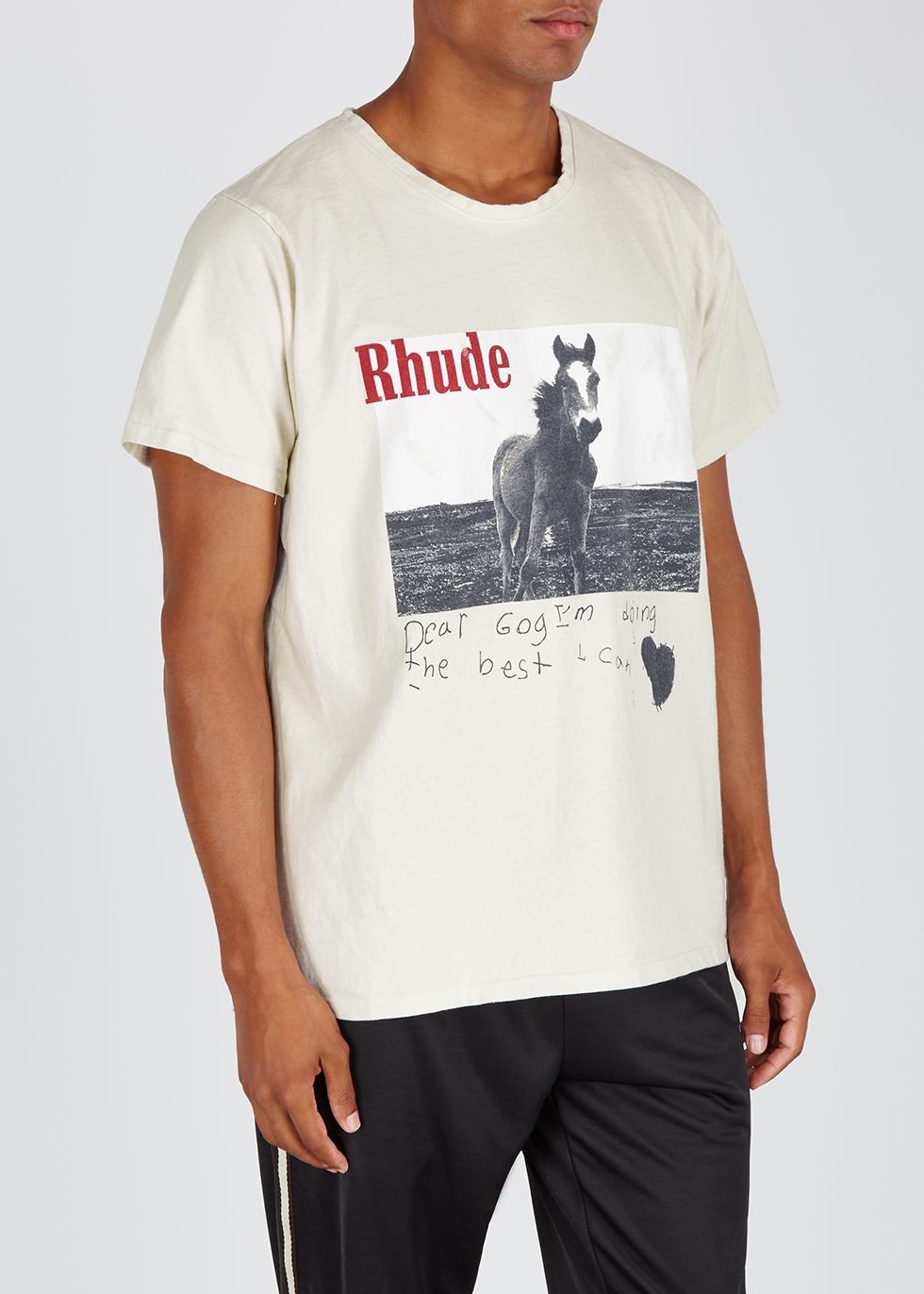 Off-white cotton T-shirt - RHUDE