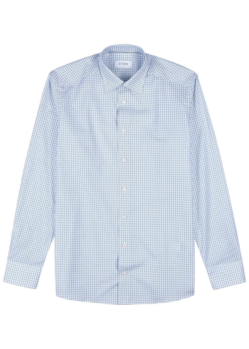 White and blue cotton shirt - Eton
