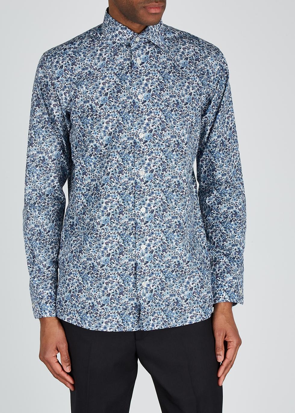 Contemporary floral-print cotton shirt - Eton