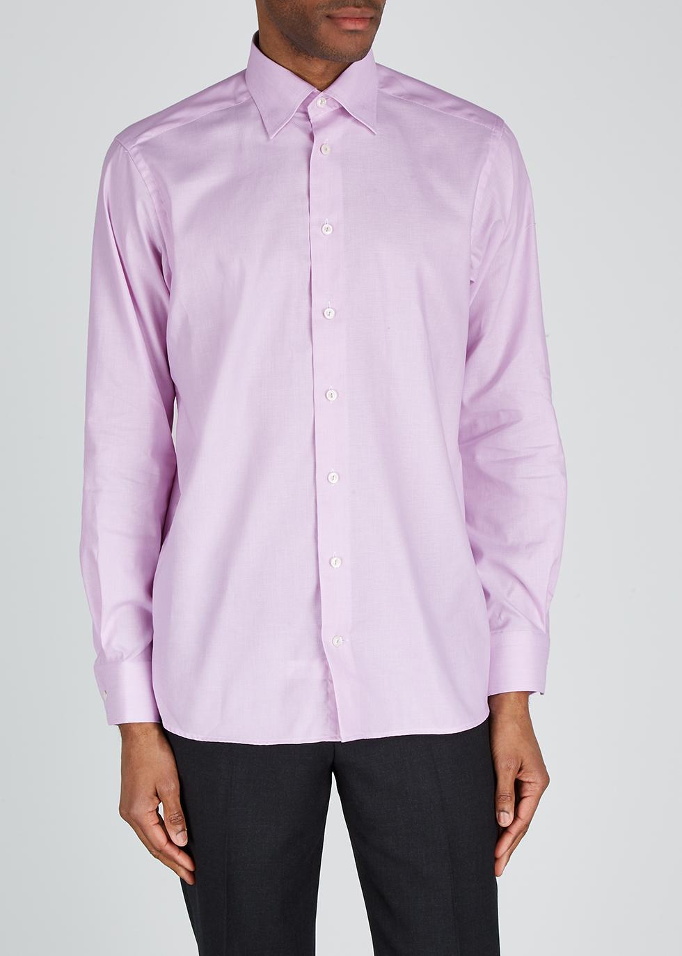 Pink contemporary twill shirt - Eton