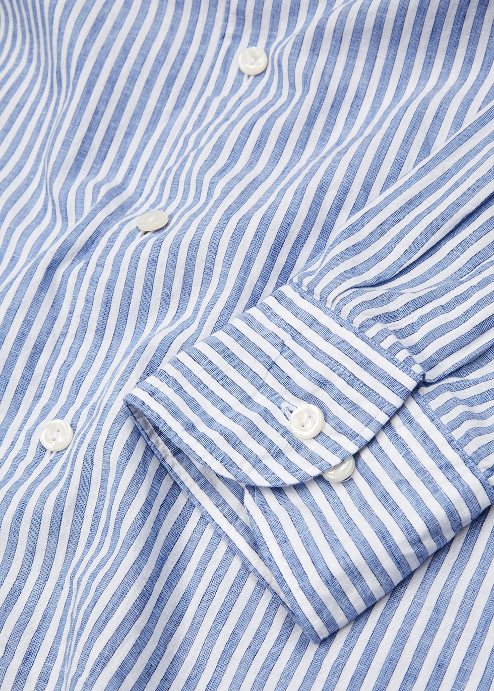 Striped slim cotton-blend shirt - Eton
