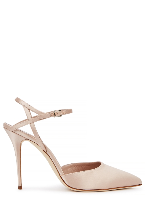 d981cee0327 Manolo Blahnik Aula 105 blush satin pumps - Harvey Nichols