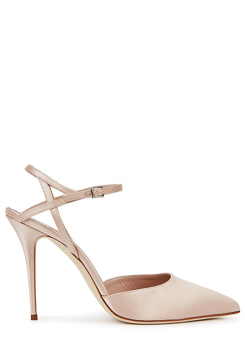 1c6d1105c Aula 105 blush satin pumps Aula 105 blush satin pumps. New Season. Manolo  Blahnik